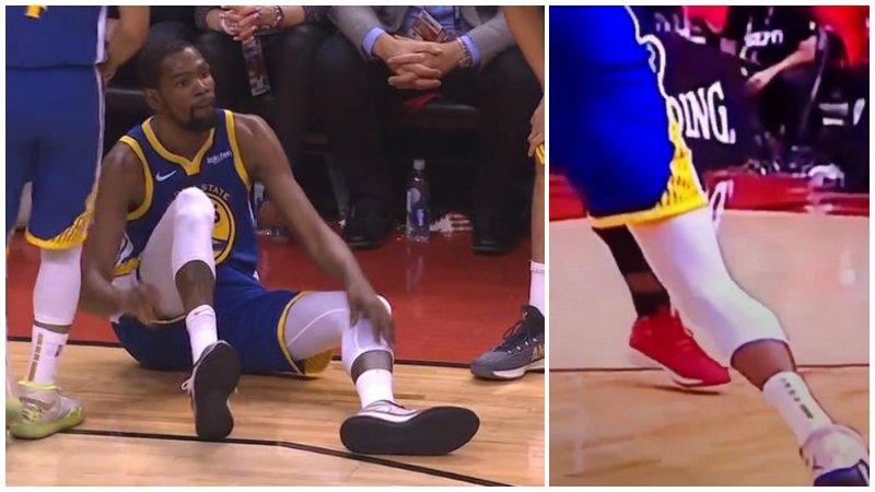 【影片】近距離回放杜蘭特受傷瞬間:小腿肌肉抽搐這一下,看的讓人心疼!