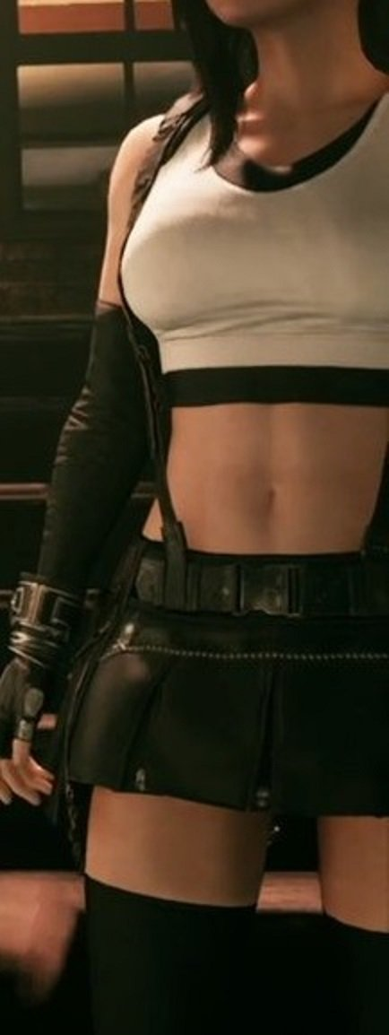 63748138c924f Tifa ◊ in the Final Fantasy VII Remake is wearing Grade A thigh highs, fans  were very, very pleased.