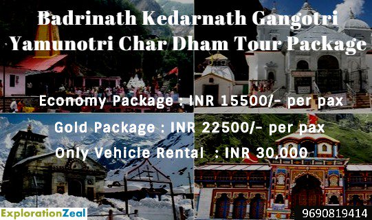 Badrinath Kedarnath Gangotri Yamunotri Char Dham Yatra  #explorationzeal #chardham2019 #dodham2019 #badrinath #kedarnath #gangotri #yamunotri #uttarakhand #rishikesh #haridwar #india #travel #travelcompany #groupstravel #tourpackage #spritual #sadguru #isha  #chardhamyatra