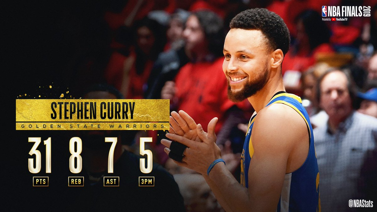 31 PTS   8 REB   7 AST   5 3PM  Steph Curry fills up the stat sheet in the @warriors Game 5 victory to earn #SAPStatLineOfTheNight! <br>http://pic.twitter.com/5AoqPz2vge