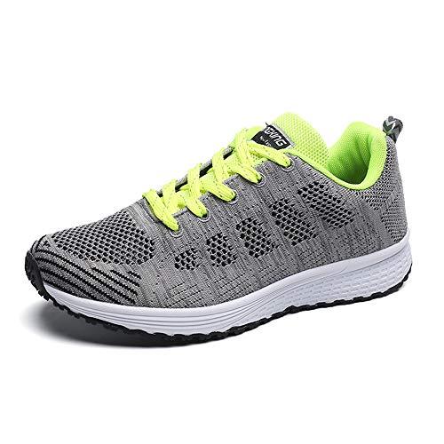 Schuhe PAMRAY Damen Fitness Laufschuhe Sportschuhe Schnüren