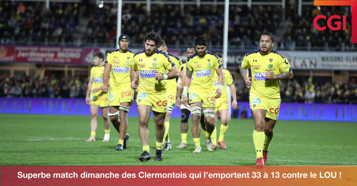 [Top14 🏉] : L'@ASMOfficiel rejoint le @StadeToulousain en finale samedi ! Un grand 👏Tous derrière l'ASM  Suivez les performances de l'ASM Clermont sur l'app #PoweredbyCGI  📲https://itunes.apple.com/…/app/asm-rugby-offi…/id1454397377… 📲https://play.google.com/store/apps/details?id=com.asm.rugby… #fierté #ASMLOU
