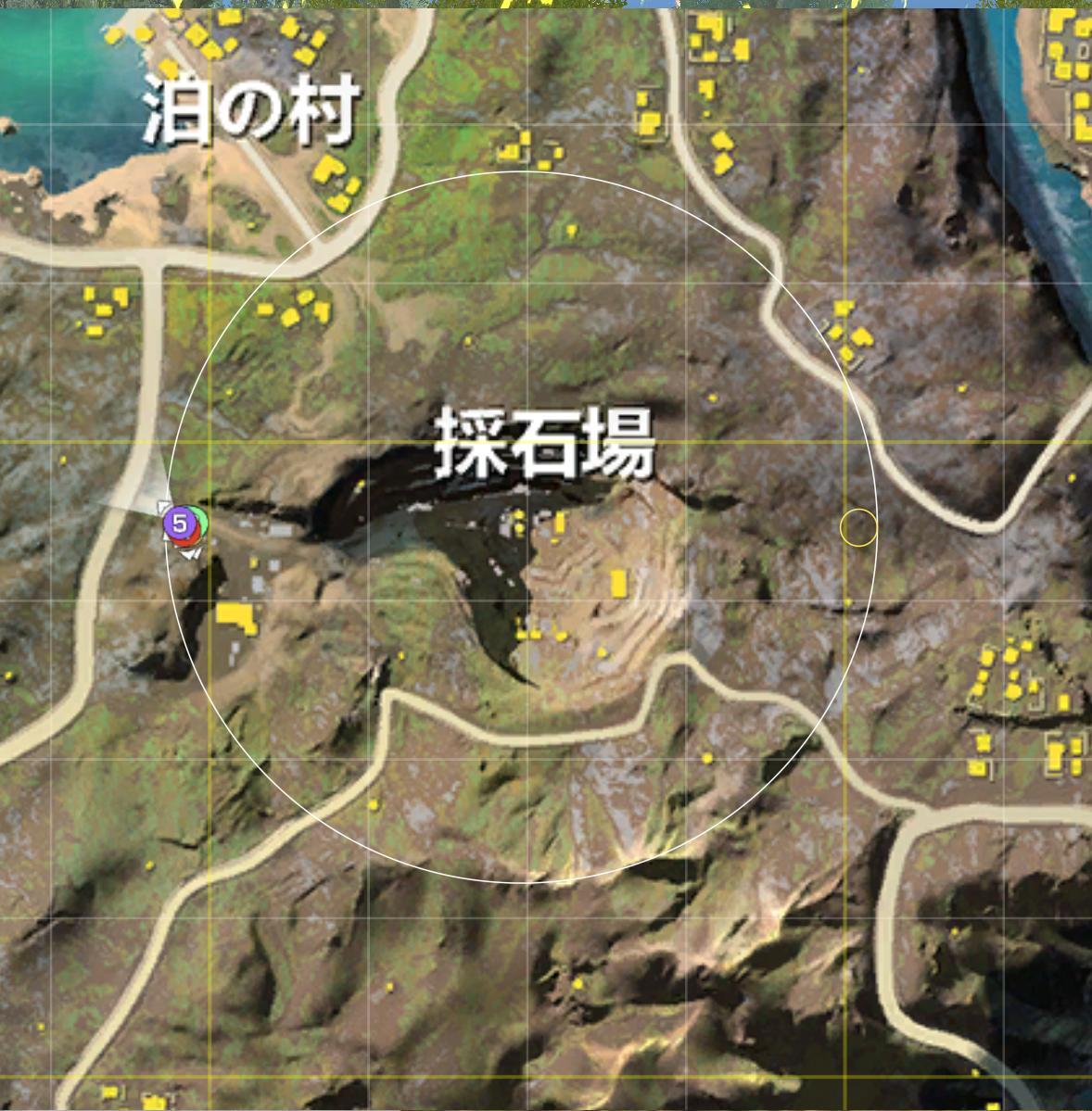 荒野 行動 嵐 の 半島 マップ