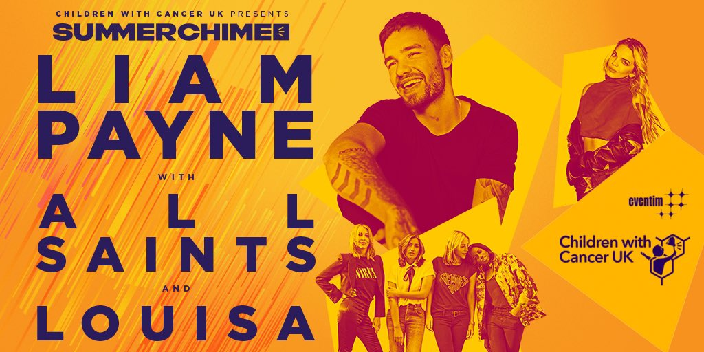Excited to be performing at #SummerChime at @Chiswick_House on 16th August with  @LiamPayne & @AllSaintsOffic for the incredible charity @CWC_UK. Tickets on sale on  Friday at 9.30am. https://t.co/ucHvIL7Pn8 #ChildrenwithCancerUK #KeepingFamiliesTogether #ChildhoodCancer https://t.co/A56ri9Kwqz