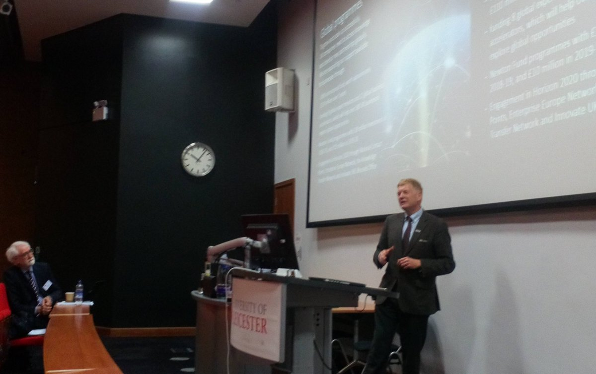 Today's keynote speaker Julian Bowrey discusses Innovate UK at the Innovation and Product Development Management Conference @uniofleicester. #IPDMC2019