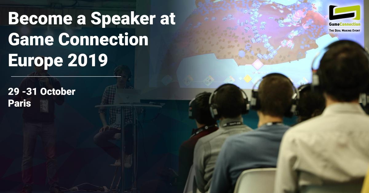 0e1ed0722 Submit your talk BEFORE 22ND JUNE: https://www.game-connection.com/call-for-speakers/  …pic.twitter.com/g5yHHGZDFt