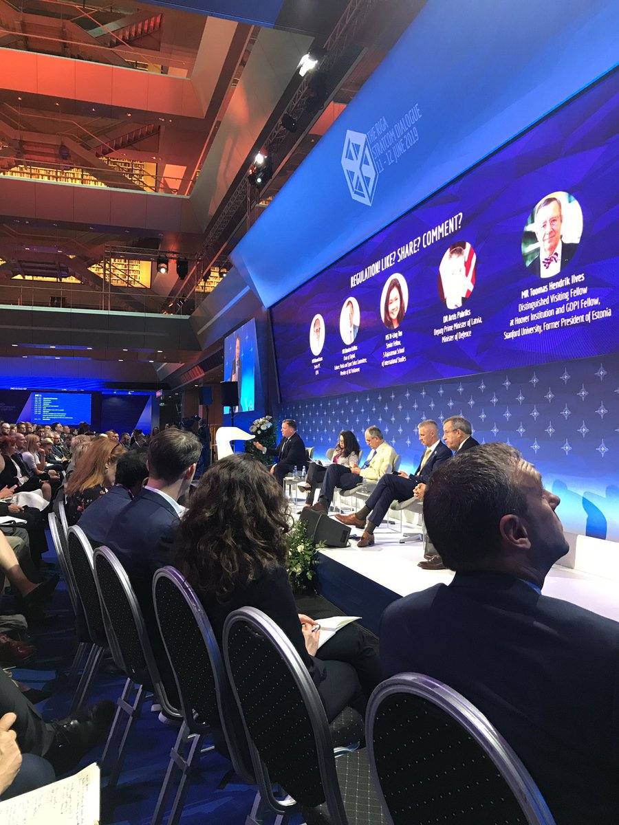 "MP @DamianCollins on regulating social media platforms: ""If you don't have basic laws in place, you democracy can be hacked."" #RigaStratCom"