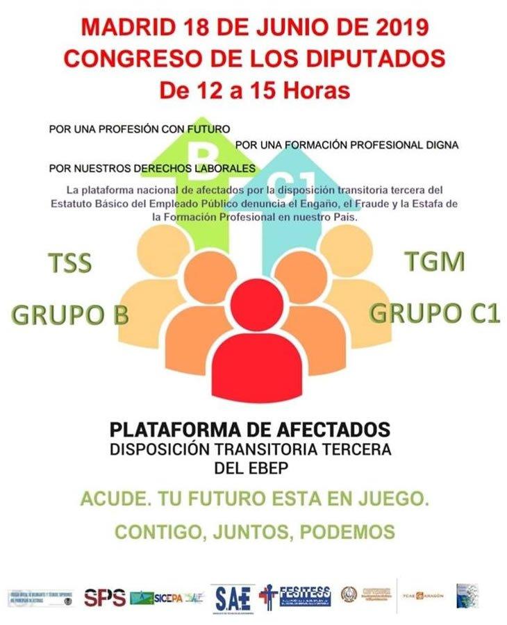 Nueva Concentración de Técnicos Sanitarios frente al Congreso de los Diputados... D8xaErDXkAAYBtT