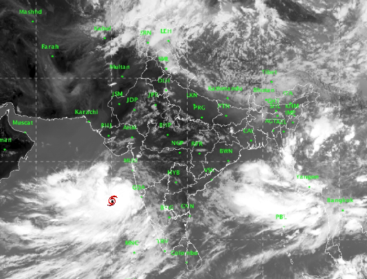 #CycloneVayu : It is very likely to move nearly northwards and cross Gujarat coast between Porbandar and Mahuva around Veraval & Diu region as a Severe Cyclonic Storm with wind speed 110-120 kmph gusting to 135 kmph during the early morning of 13th June 2019.IMD