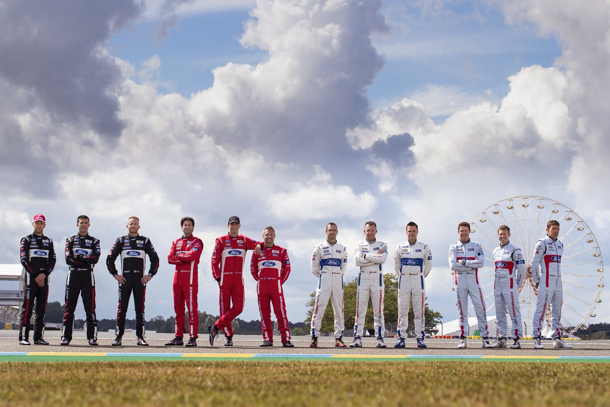 #FordLeMans | Here they are! The men who drive the machines in the worlds greatest endurance race...the #LEMANS24 #FordGT