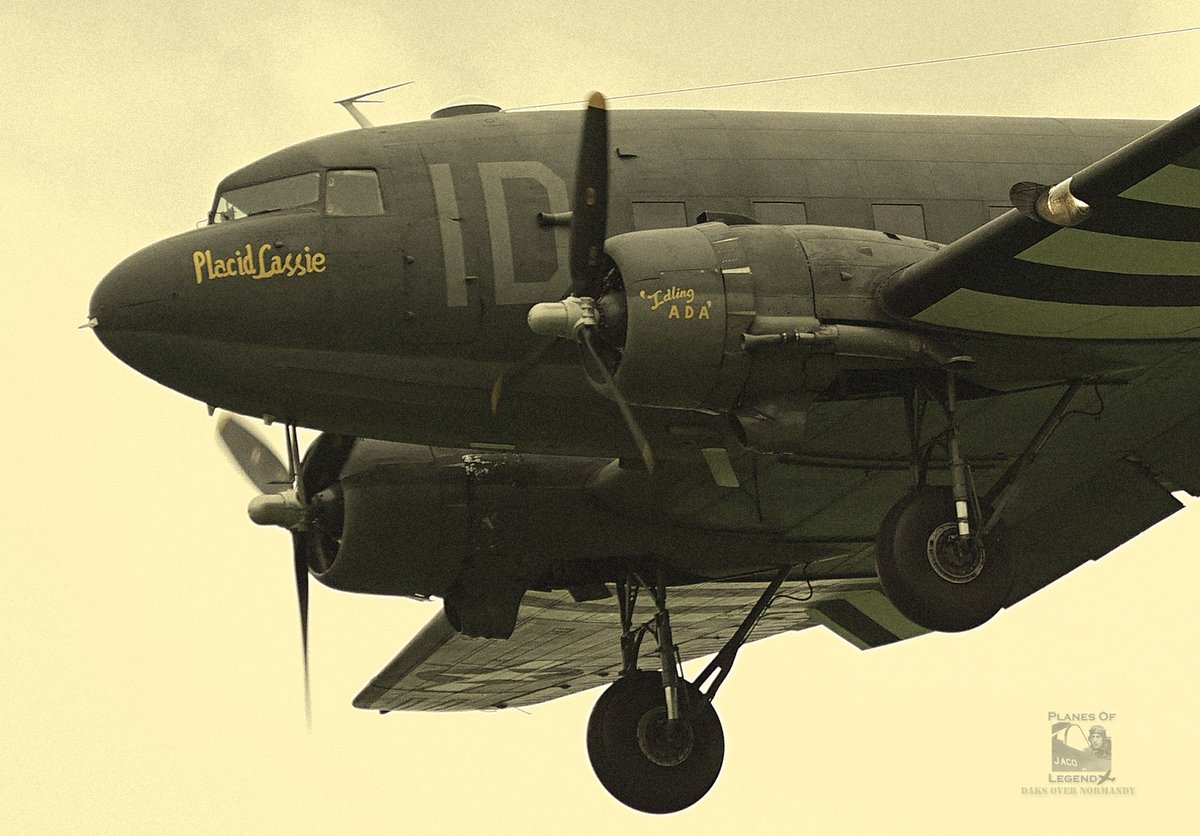 "🛩️ #Caen #Carpiquet #Dc3 #C47 #AvGeek @Daks_Normandy #DDay75 #DaksOverNormandy #PlacidLassie June 6, ©Planes Of Legend. C-47 ""Placid Lassie"", landing runway 31 after dropping parachutists, Caen-Carpiquet, France. https://www.tunisonfoundation.org/c-47-placid-lassie.html…"