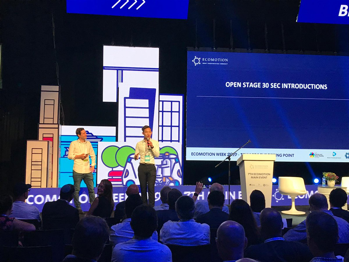 Kang Wei Neo and his team Maasters won our Smart Mobility Hackathon in Prague back in April. Today, he got the chance to pitch the winning project to investors at @EcoMotionIL in Tel Aviv.