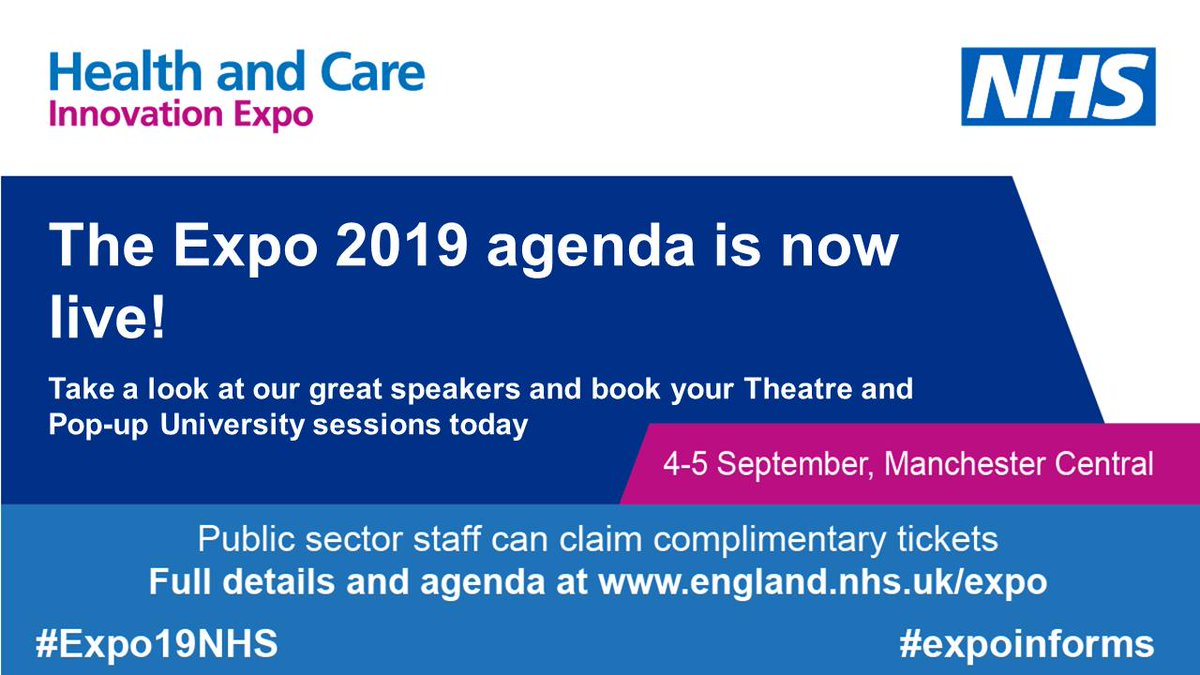 Health and Care Innovation Expo (@ExpoNHS) | Twitter