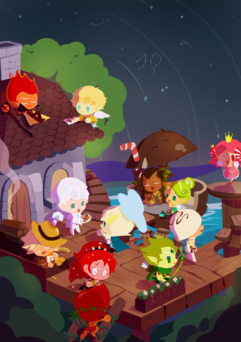 I have only been playing Cookie Run for almost a year, yet I feel so attached to the game. Thanks Devsisters for creating this masterpiece, I will forever remember it as part of my childhood.  Anyway, this is my artwork for #CRFanArtBook! #cookierun #GingerBrave10th <br>http://pic.twitter.com/BNhhQ4QBcy