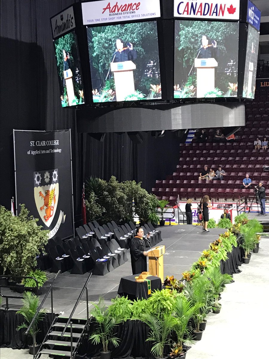 St Clair College On Twitter John Fairley Gives Instructions To Guests At The 52nd Annual Spring Convocation Stclairgrad2019 Convocation
