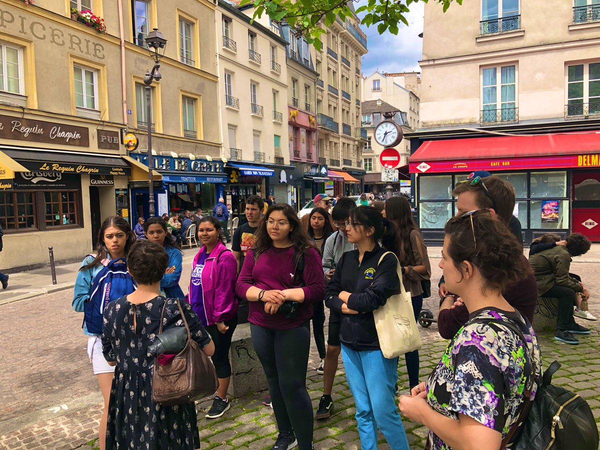 After an awesome exchange in Nantes, we are spending our last few days in Paris. This afternoon we had a guided tour of the Latin Quarter before heading to Sainte Chapelle and La Conciergerie...tonight we will be heading to Arc de Triomphe #leydenpride @ACIStours<br>http://pic.twitter.com/rDlsRjRqPY