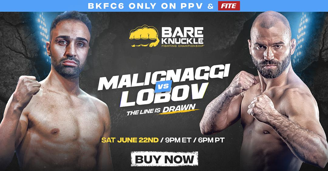 🔳 THE LINE IS DRAWN 🔳  😡Malignaggi and Lobov are out to prove once and for all, who is the better fighter. After years of personal dislike for each other, June 22 can't come soon enough for these guys!  #BKFC6 is available on #FITETV with an unlimited Replay!  June 2|9pm EST