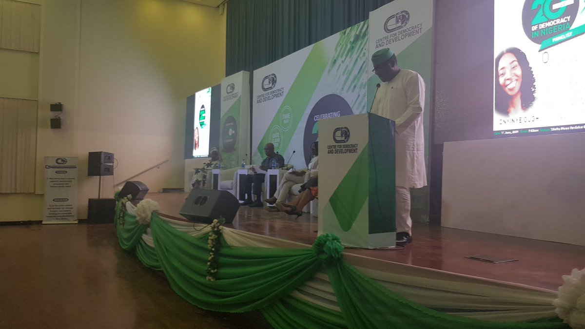 It is so easy to talk about the difficulties we are facing, There is no way one can excuse failures of democracy. We have a duty as citizens to get involved in governance ~ Gov. Kayode Fayemi  #TheICIR  #DemocracyAt20 #NGDemocracyAt20 @kfayemi @CDDWestAfrica<br>http://pic.twitter.com/WSdQ7FrGyH