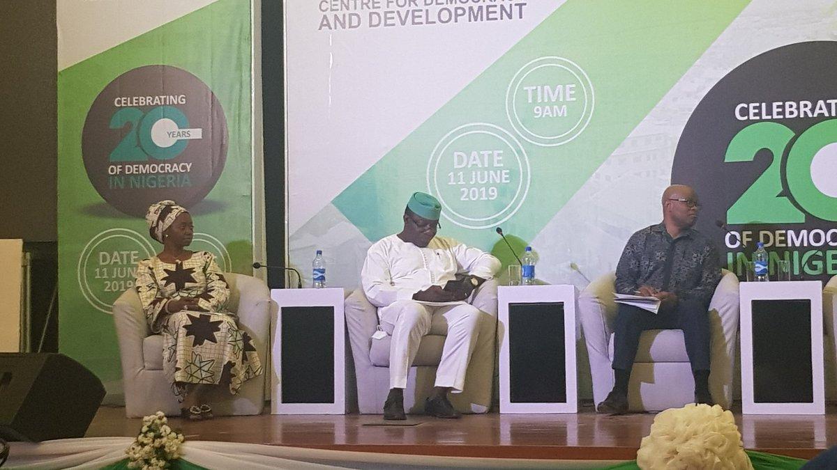 We need to build a massive sense of citizenship in Nigeria ~@obyezeks  #TheICIR  #DemocracyAt20  #NGDemocracyAt20 <br>http://pic.twitter.com/pDVctkRT7m