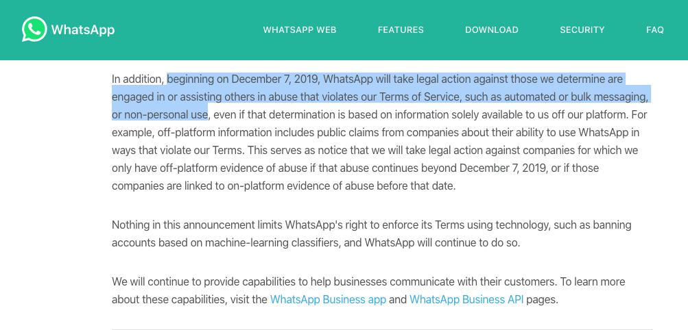 As of December, publishers will no longer be allowed to send out newsletters on WhatsApp