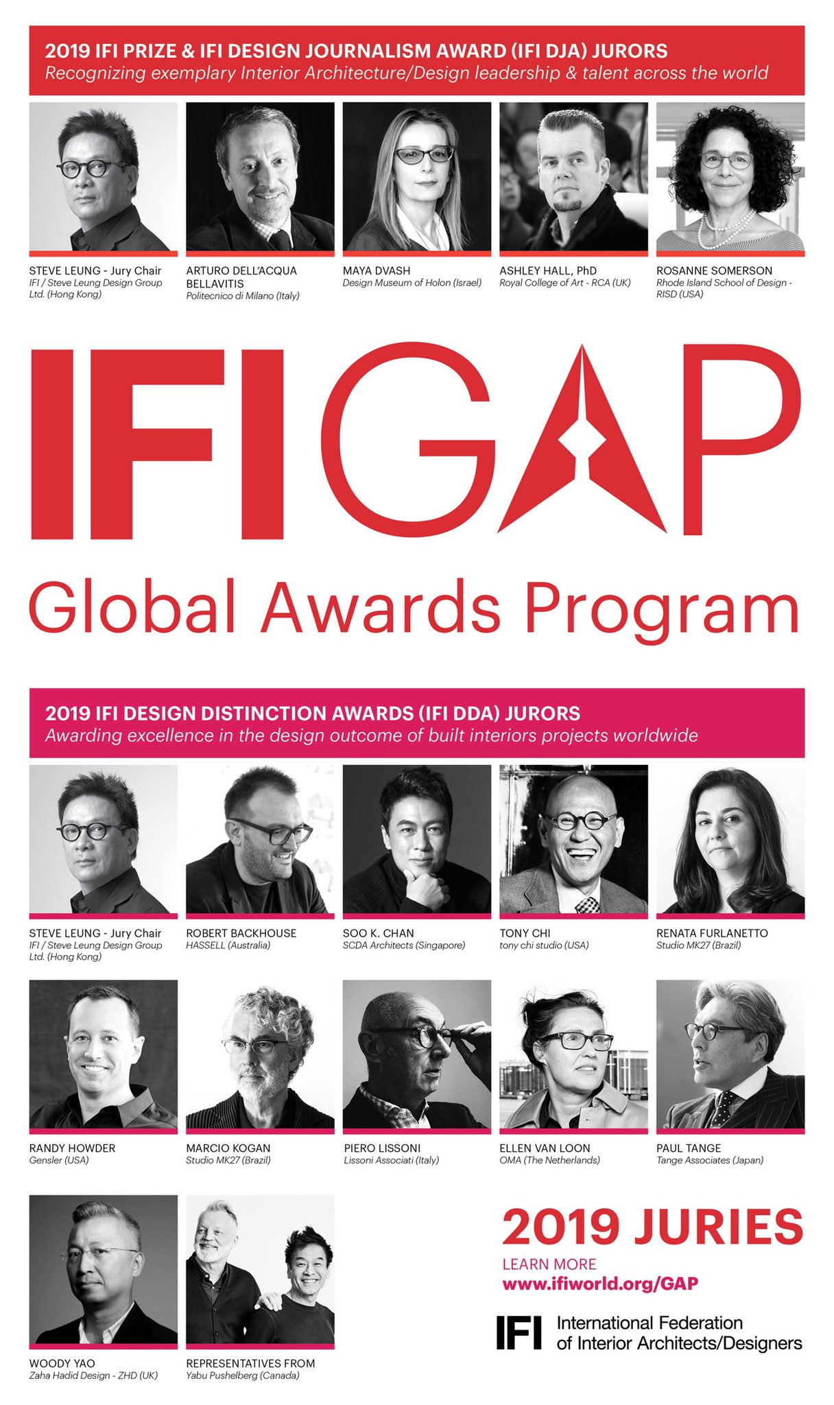 Ifi On Twitter Meet The Jury Ifi Is Thrilled To Announce The Esteemed Jurors Of Our 2019 Ifi Global Awards Program Prize Design Journalism Award Dja And Design Distinction Awards