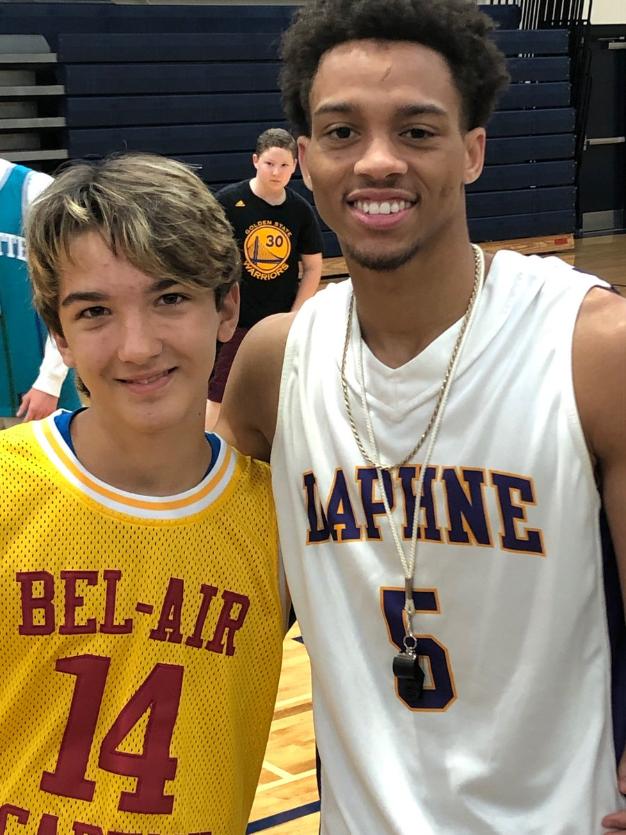 BEST JERSEY DAY AT CAMP! Love these two..Will Smith's Bel-Air Academy jersey and DD Buskey's Daphne HS jersey!! Two greats!