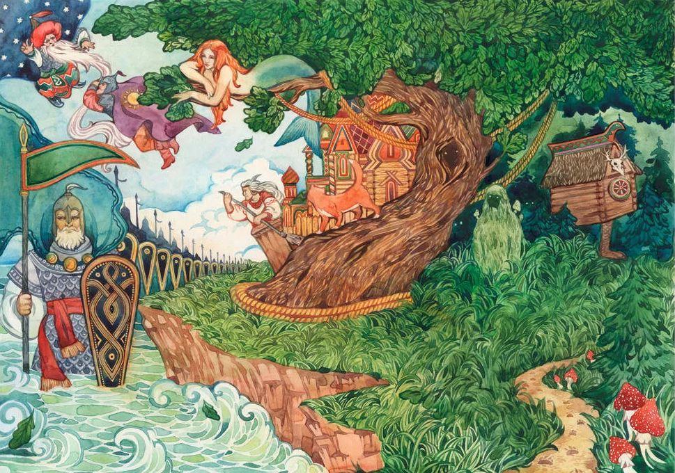 просто пушкин сказки у лукоморья дуб зеленый картинки печати