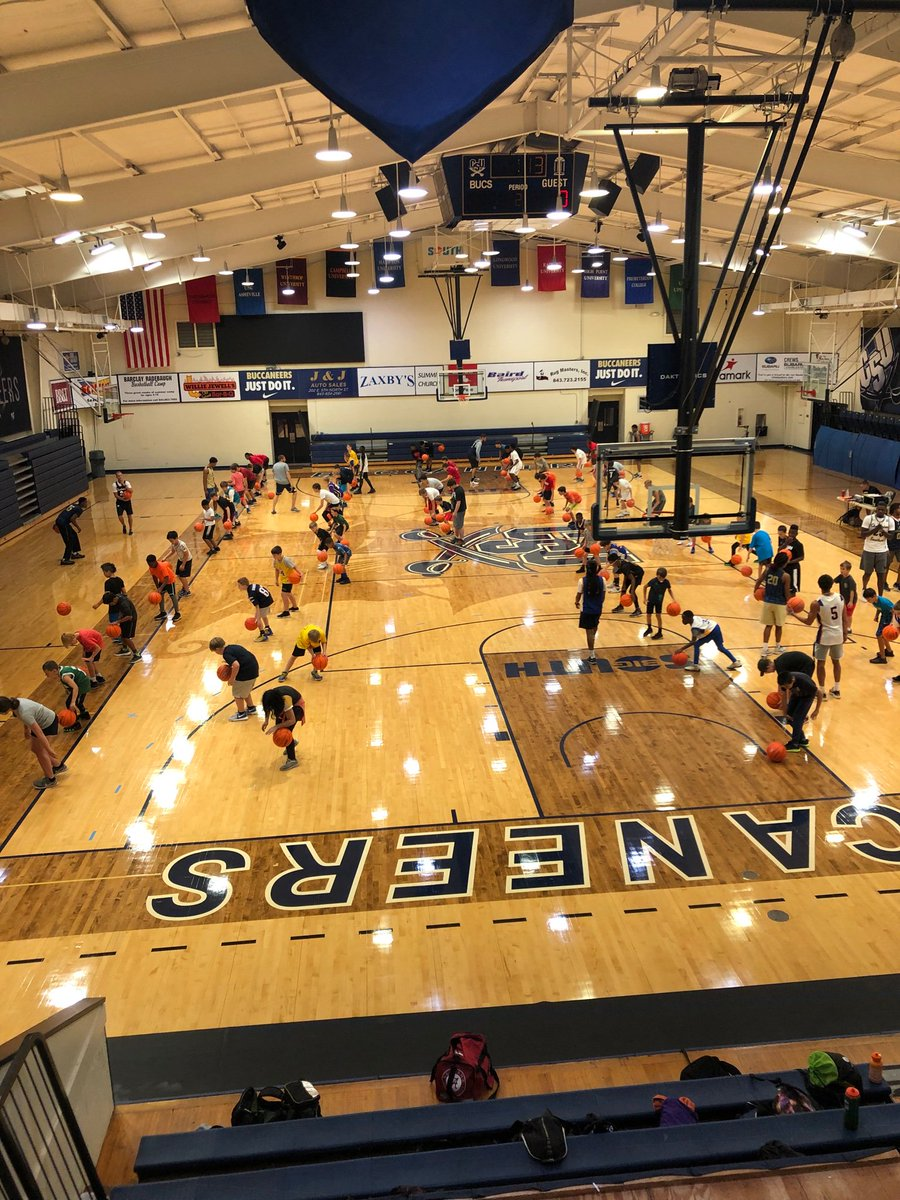 Day 2 of camp! We start each morning with dribbling drills. Talented group!