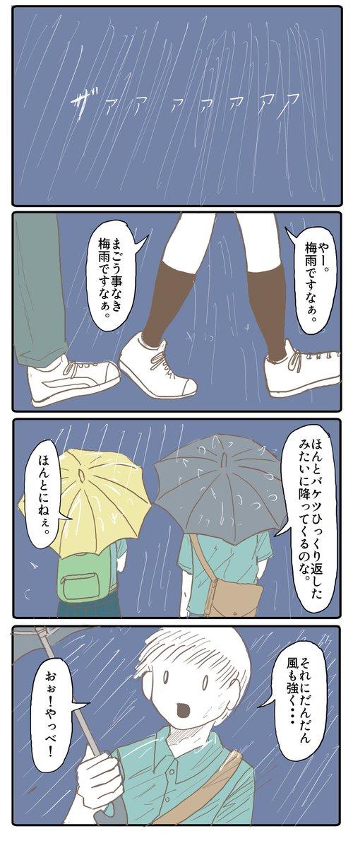 まごうことなき梅雨。
