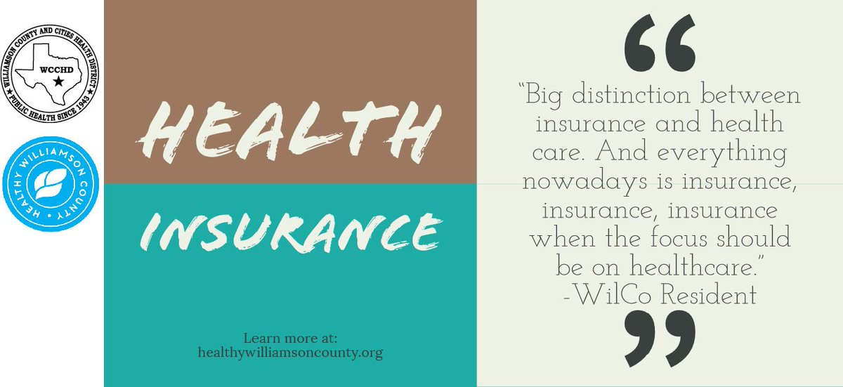 Did you know 1 in 10 people in Williamson County do not have health insurance?To learn more about healthcare in Williamson County visit: http://www.healthywilliamsoncounty.org/cha#2019CHA #HealthyWilliamson