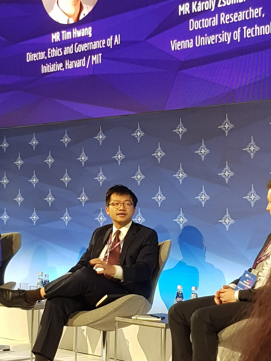 Not only did @timhwang debunk our fear for #deepfake at #RigaStratCom, but also for the idea that authoritarian regimes are better positioned to take advantage of #AI. There is #AI in development that allow liberal democracies to perform on par, while taking privacy into account.