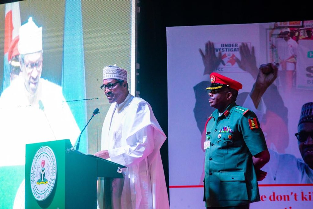 D8yTmpKX4AEagYl - Photo news: Buhari, Tinubu, Aregbesola others grace EFCC National Democracy Day Anti-corruption summit
