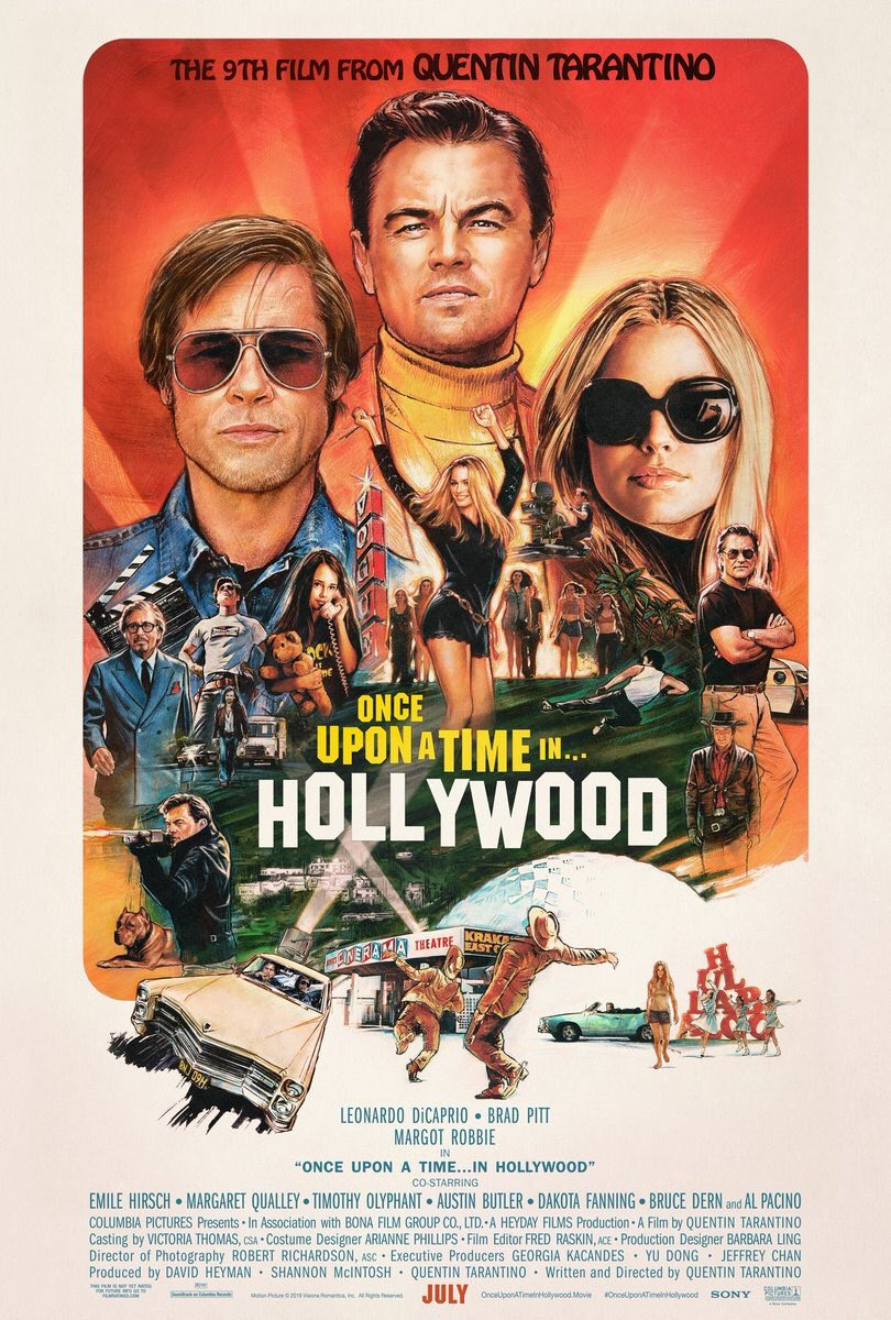 Who's excited?!? #OnceUponATimeInHollywood