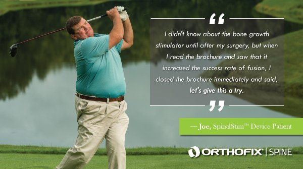 The world celebrates #MensHealthWeek this week. It's a time to bring awareness to health issues that affect men and encourage them to seek treatment, which is exactly what Joe Veverka did when he was experiencing back pain #BoneGrowthTherapy #RedefineTheRecoveryExperience