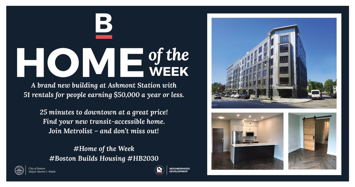 This week we are featuring Treadmark as our Home of the Week.Treadmark is a transit oriented mixed use building with 83 units of housing, including 51 affordable rentals and 32 condominiums.Sign up for Metrolist to find great affordable housing like this: ow.ly/bUZi30oVf29