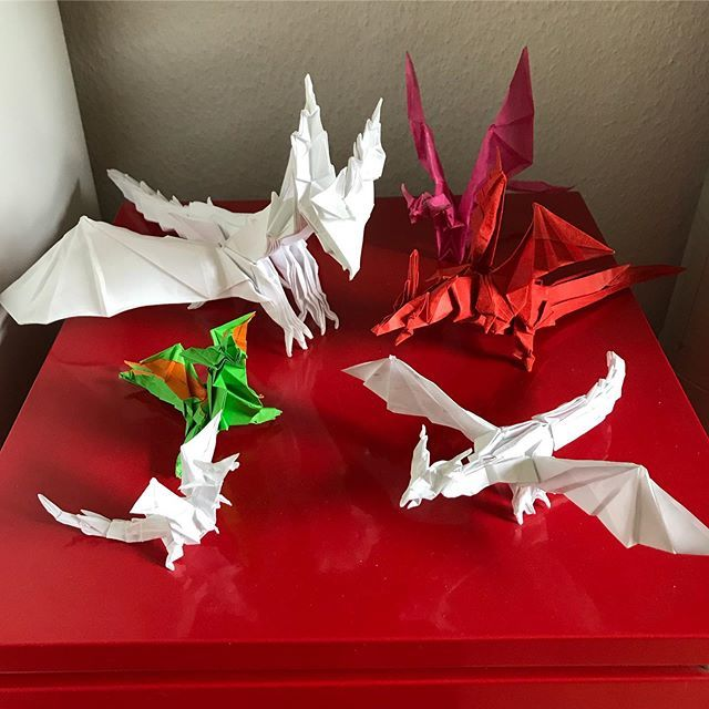 How to fold the Origami Fiery Dragon Origami fiery dragon ... | 640x640