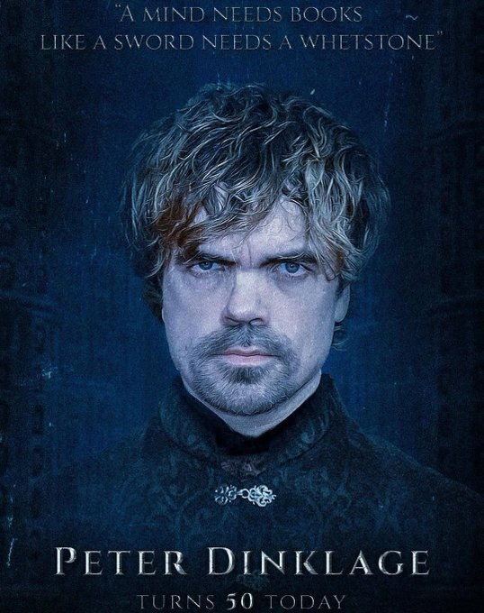 Happy birthday to Peter Dinklage!  One of the finest actors I\ve ever seen in modern cinema.