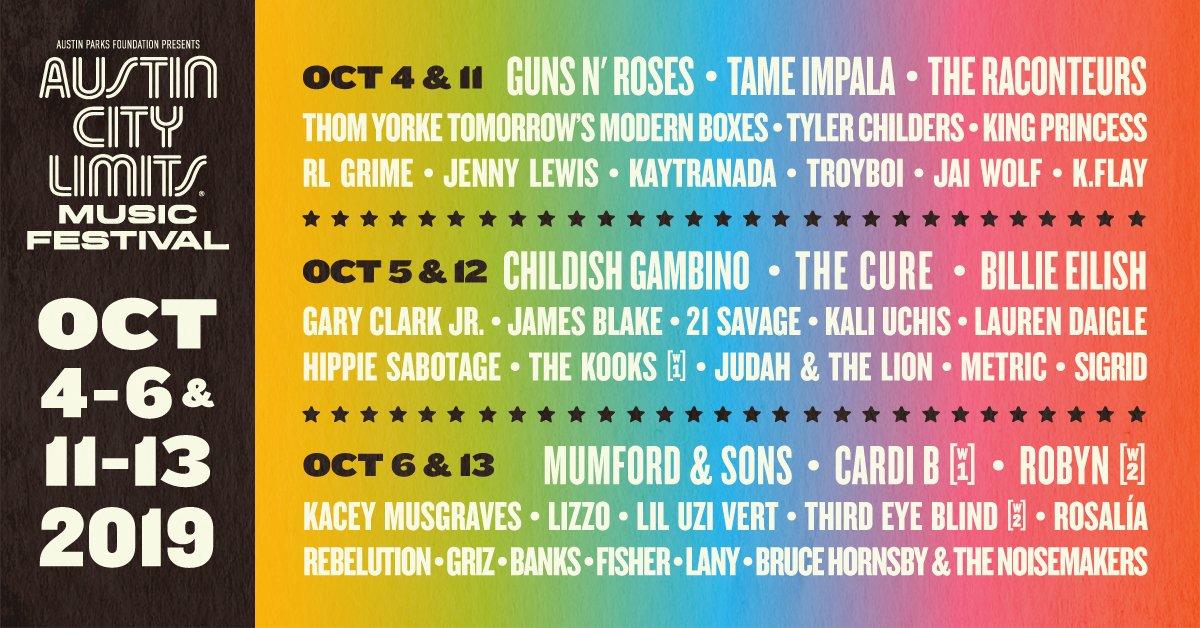 Austin Music Festival 2020.Acl Festival 2020 Lineup Festival 2020 Smakelijkduurzamestad
