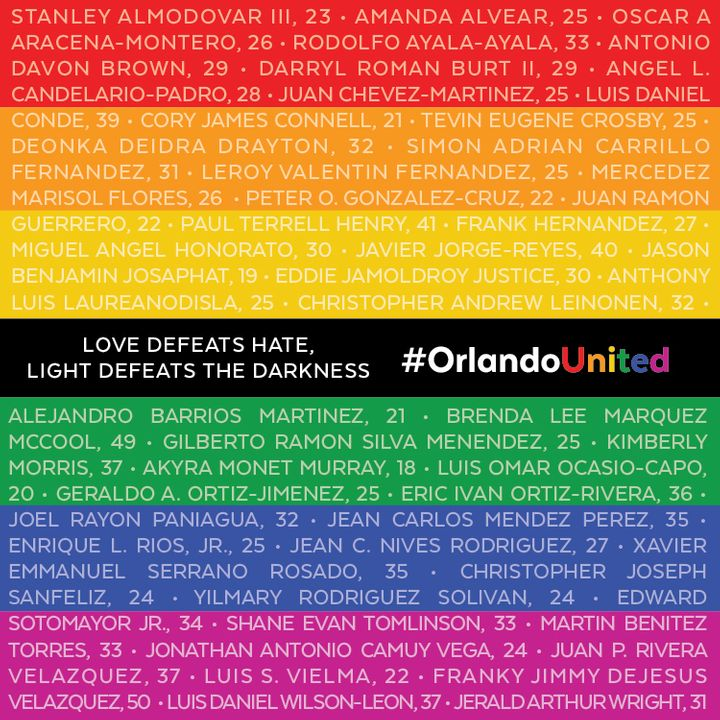Three years ago tonight, a madman entered the Pulse Nightclub in Orlando Florida and murdered 49 (mostly Latinx) LGBTQ people and injured another 51. Remember their names! #Pulse