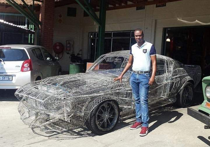 South African man Hand-builds Replica of 1967 Ford Mustang Entirely Out Of Wire. This honestly deserves endless retweets .