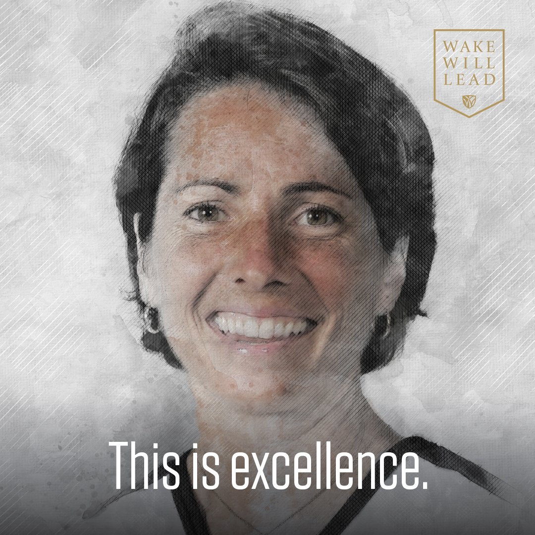 This is leadership. In 27 yrs of coaching @WakeHockey, @coachaverill has won 3 NCAA field hockey titles. Her players have posted a 100% NCAA-measured grad rate in 6 straight yrs. Addresses @WakeForestBiz students on goal-setting. Member of @WFEudaimonia advisory board. #wakewill