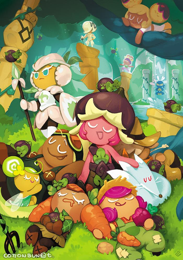 #GingerBrave10th  #CRFanArtBook Wszystkiego Najlepszego DzielnyPierniczku! ;D  Helping Cookies escape the Witch for 10 round years! That's quite something, isn't it? Thanks to you, the Cookies can peacefully dream and hopefully you get to take a well deserved nap too! <br>http://pic.twitter.com/3qPA7qmB8m
