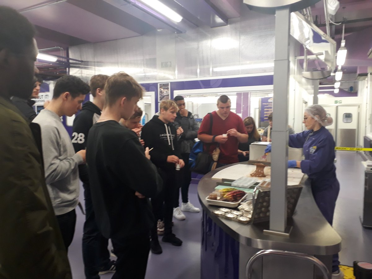 Today our Level 3 Business students have been on a trip to @CadburyWorld. They have been learning about Marketing, CSR and a bit about International Business, as well as sampling some chocolate! 🍫 #MyBathCollege