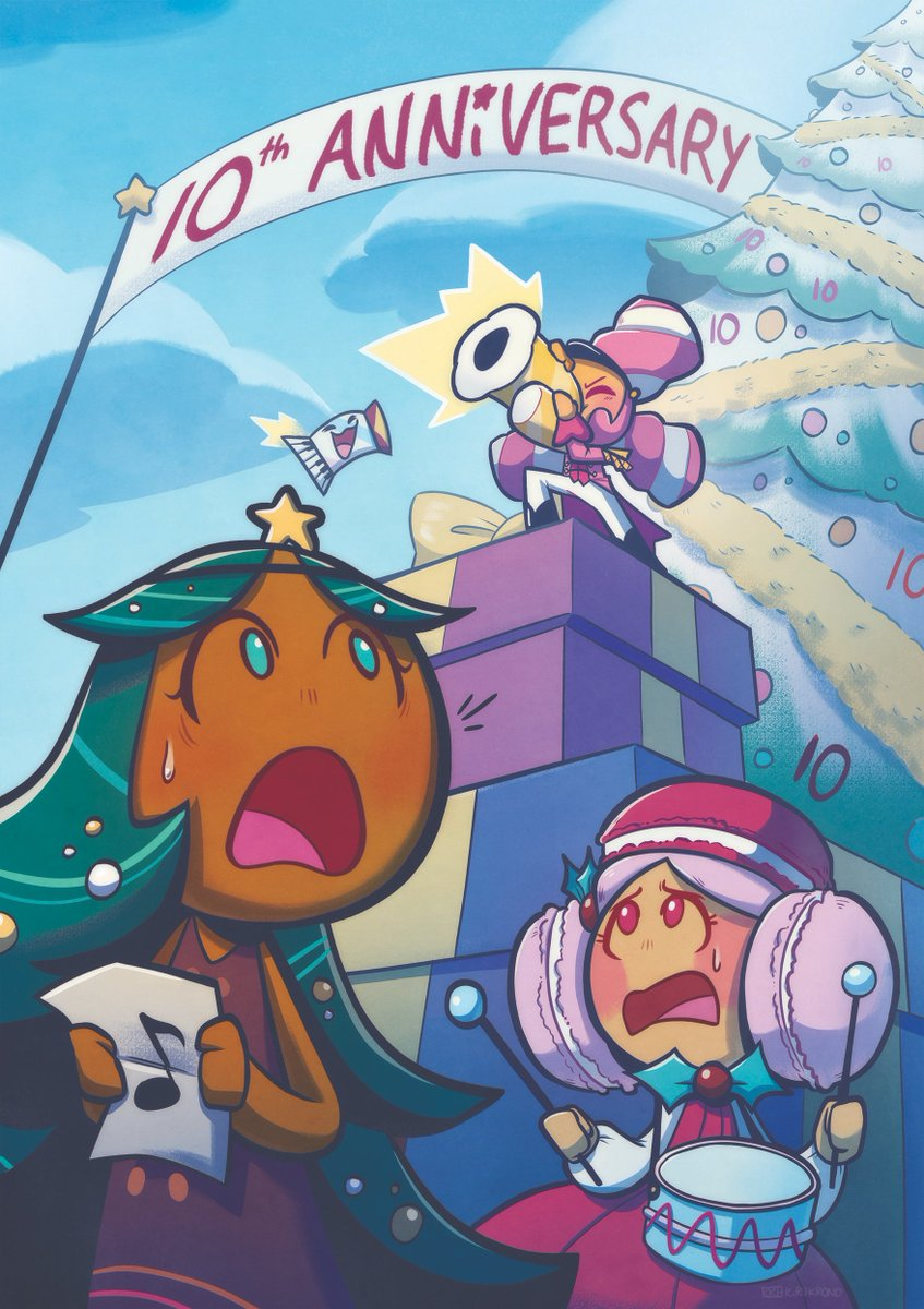 Happy Birthday @CookieRun  I'm so thankful I was able to be a part of the Cookie Run Fanart book! Thank you @cookierunupdate ;o; Marshmallow wasn't part of the performance, but she finds a way to be the star anyway #cookierun  #GingerBrave10th #쿠키런   #クッキーラン<br>http://pic.twitter.com/ytgeLtfcHa