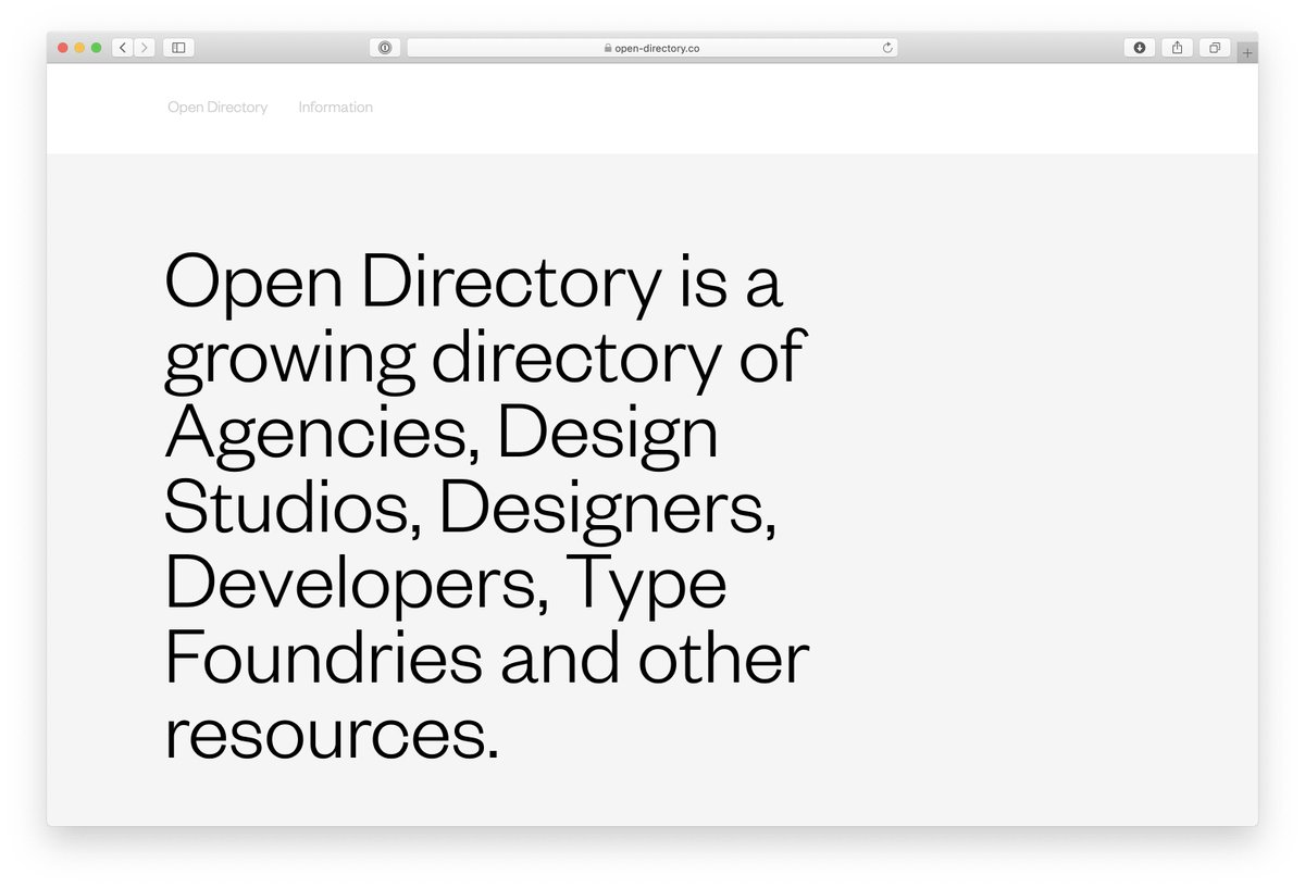 might be late to the game, but this is pretty great: open-directory.co by @christianlpunkt