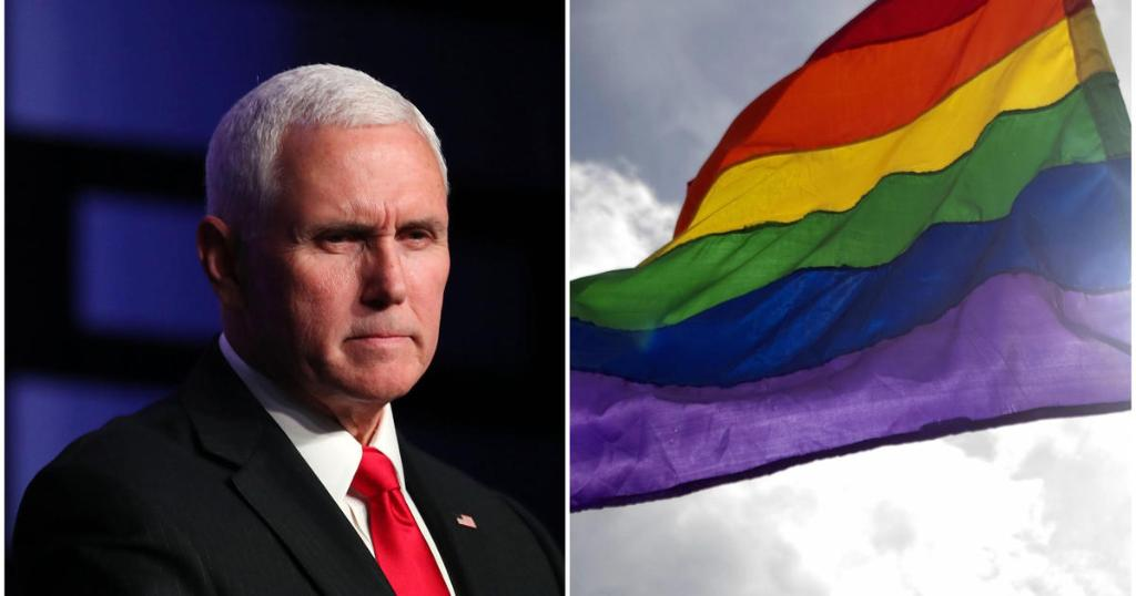 VP Mike Pence confirms reports that rainbow Pride flags had been banned from U.S. embassies during Pride Month, expressing his support for the administration's decision; four embassies' requests to fly rainbow flags were denied, according to VP Pence https://cbsn.ws/2wT2yGV