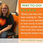 Image for the Tweet beginning: Way to Go, Emily! #EmployeeShoutout