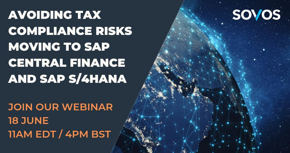 To stay ahead of VAT reporting and e-invoicing compliance mandates and avoid S/4HANA setbacks, you need to modernise your tax compliance. Join our webinar on 18 June to find out how: http://bit.ly/2Ws0cJL