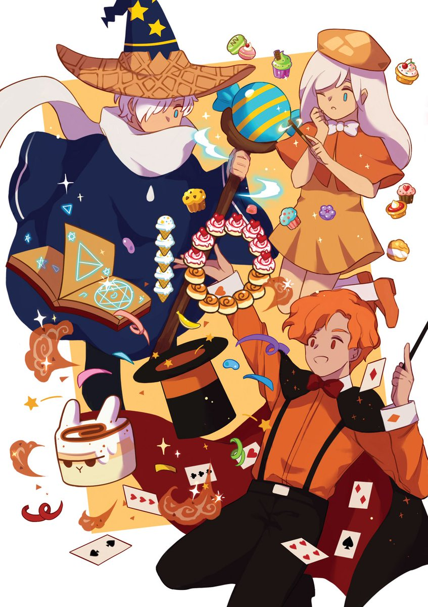 My piece for #CRFanArtBook !! HAPPY 10TH BIRTHDAY COOKIE RUN !!  #GingerBrave10th <br>http://pic.twitter.com/6gXyOdNd4w