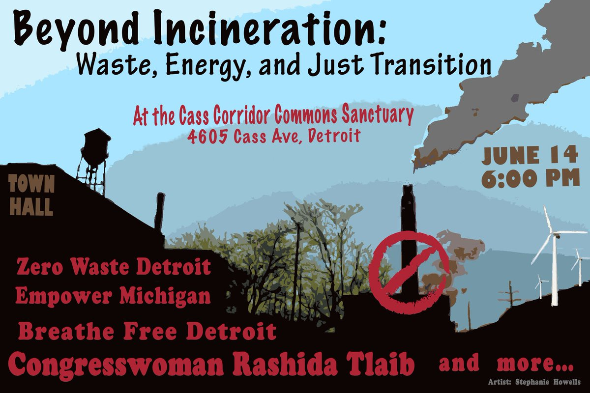 As we move beyond incineration in the city of Detroit, what's next? Please join me along with some amazing advocates and community members for a conversation on just transitions for zero waste, renewable energy, gentrification, climate justice, and more!